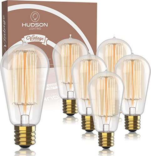 Vintage Incandescent Edison Light Bulbs: 60 Watt, 2100K Warm White Lightbulbs - E26 Base - 230 Lumens - Clear Glass -...