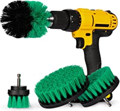 4 Piece Power Scrubber Drill Brush Attachment Set for Cleaning - All Purpose Drill Scrub Brushes for Bathroom, Grout, Shower, Tub, Floor, Tile, Corners and Kitchen Surfaces