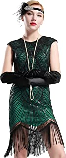 Women's Flapper Dresses 1920s Beaded Fringed Great Gatsby Dress