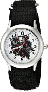 Marvel Comics Kid's W002237 Ant-Man Analog Display Quartz Black Watch