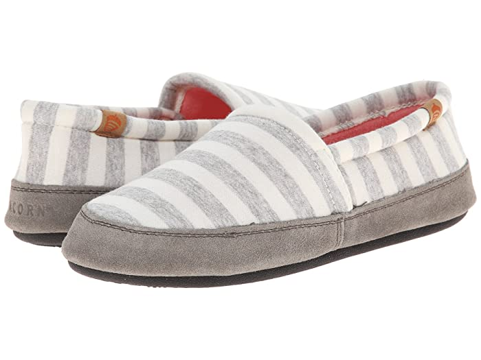 Acorn   Moc Summerweight (White Stripe) Womens Slippers