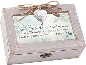 Cottage Garden True Friends Hard to Find Natural Taupe Jewelry Music Box Plays Wonderful World
