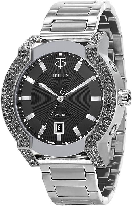 Orologio tellus discoverer 46 diamante da donna, cinturino in pelle genuina, swiss made - t1065-z111eob111