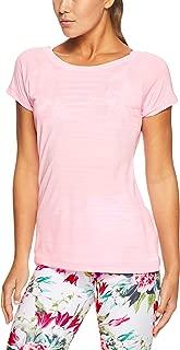 Lorna Jane Women's Exhale Active Tee, Baby Pink Marl