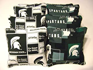 Michigan State Spartans Cornhole Bean Bags Set of 8 Top Quality Toss Game
