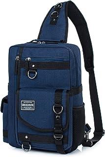 Messenger Bag for Men Cross Body Shoulder Sling Bag Travel Outdoor Gym Backpack Dark Blue