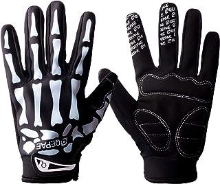 Tofern Unisex Cool Skull Skeleton Guantes de dedo completo para bicicleta Motocicleta Ciclismo Invierno Cálido Deportes Se...