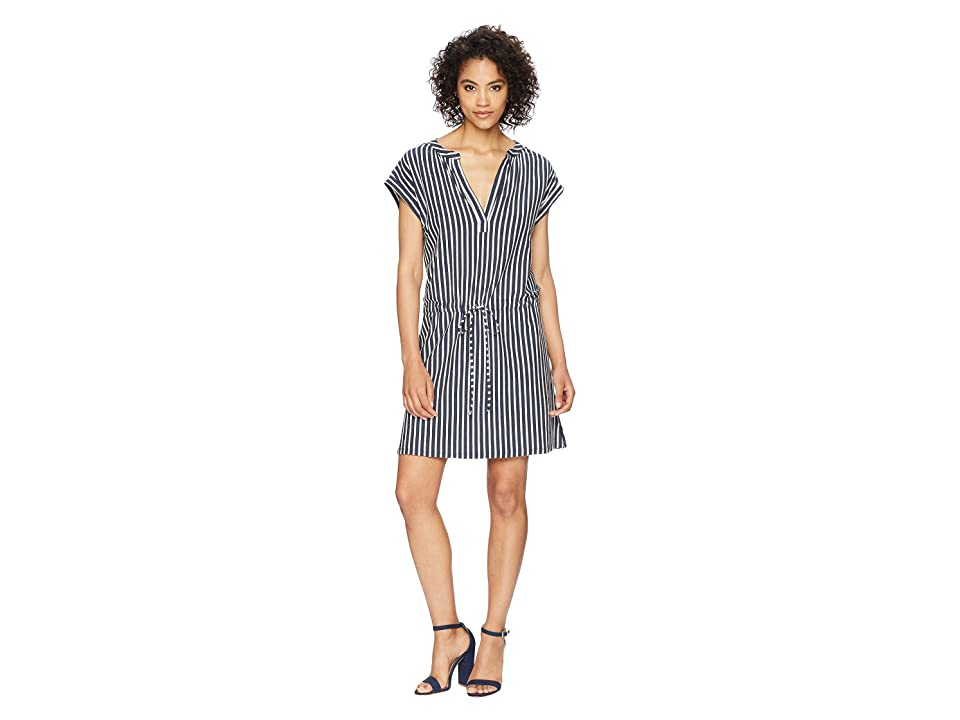 Dylan by True Grit Montauk Stripes Tunic Dress (Indigo/White) Women