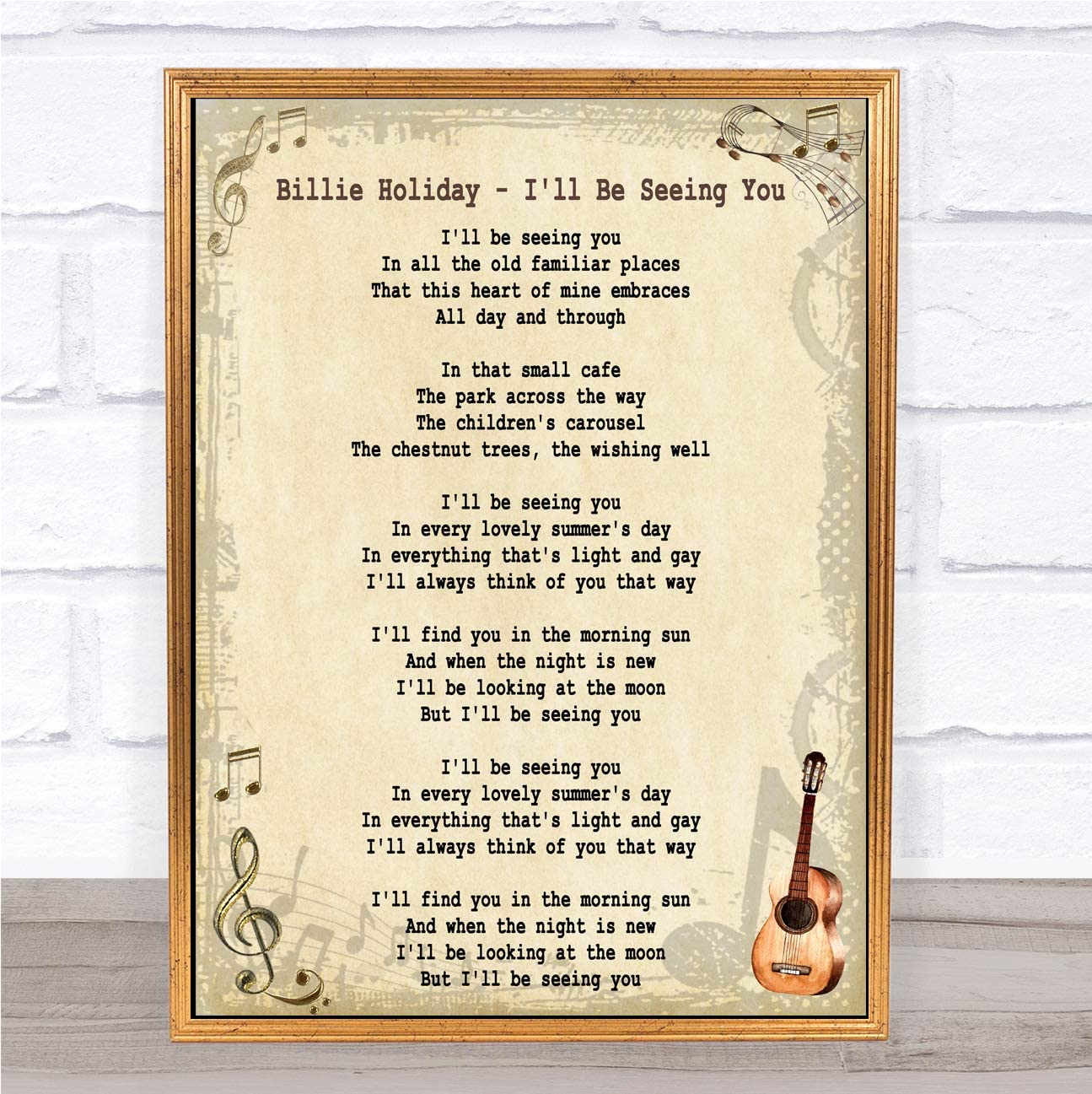Lovely Day White Heart Song Lyric Quote Print