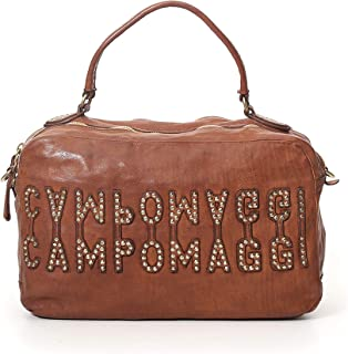 Campomaggi BOWLING BAG WITH POCKETS C022210ND X1786 BAULE VACC.LETTERE RIVETTI