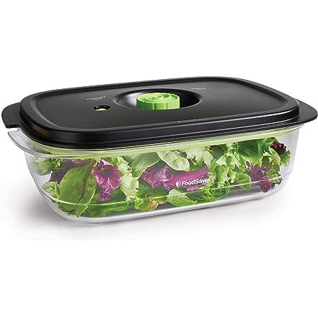 Boîte alimentaire FoodSaver de conservation et marinade | Boîte alimentaire hermétique sans BPA | Anti-fuite | Va au lave-vaisselle | 2.3 L