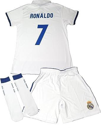 Real Madrid Traje de fútbol réplica Oficial 2016 – 2017 Ronaldo para niños