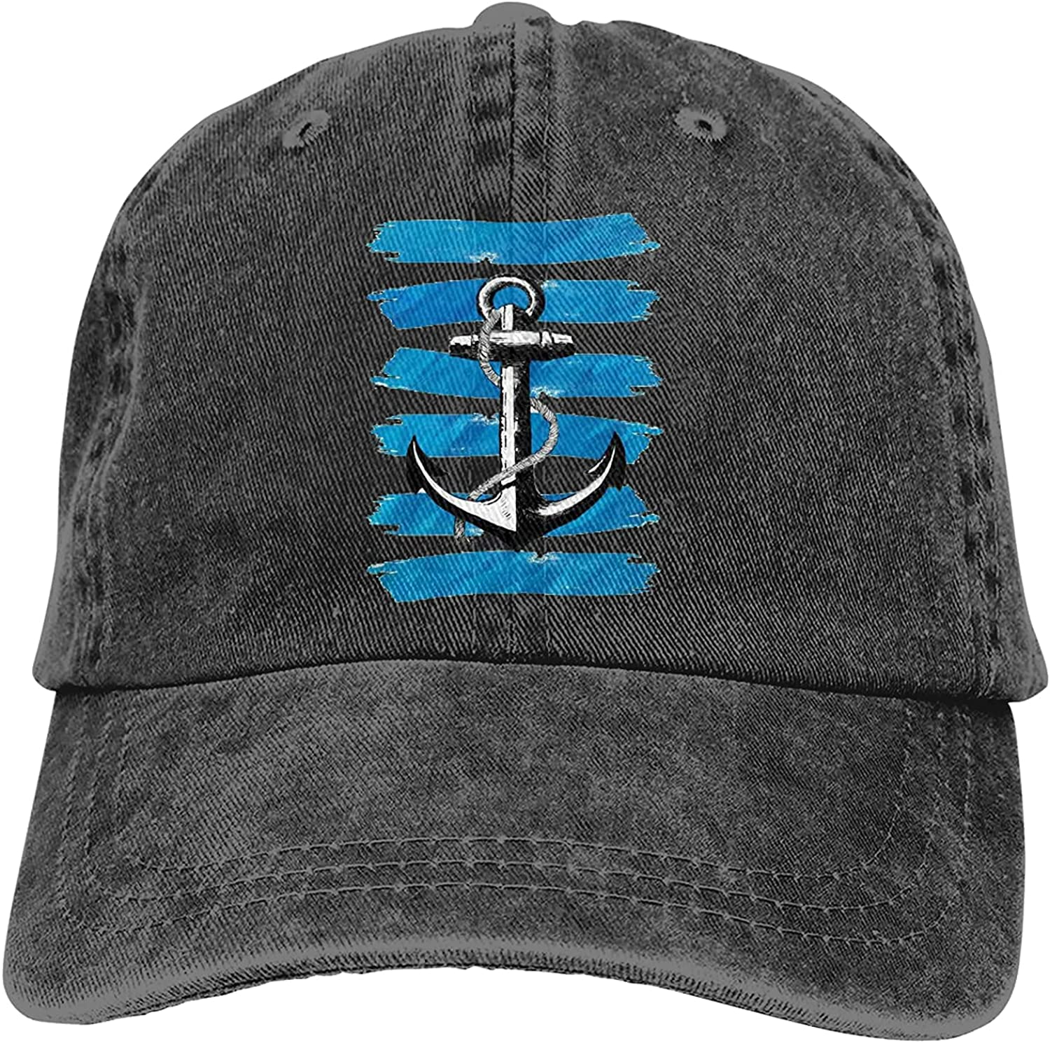 Max 51% OFF Nautical Stripes Anchor Sports Baseball Cap Washable Quality inspection Trucker Hat