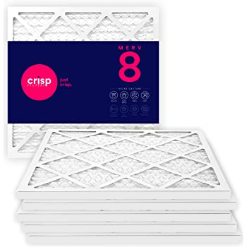 Nordic Pure 19/_1//2x21x1 Exact MERV 8 Pleated AC Furnace Air Filters 3 Pack