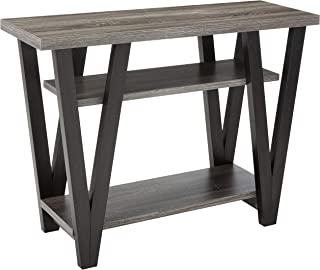 Coaster 705399-CO 2 Shelf Console Table, Antique Grey/Black