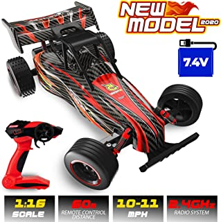 Remote Control Car for Boys - 1:16 Large RC Buggy with Rechargeable Battery - 2.4 GHz High Speed Monster Truck for Offroad, Racing Electric Vehicle Hobby Toy for Kids, Adults - Great Gift for Children