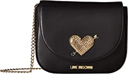 Evening Bag with Heart Hardware