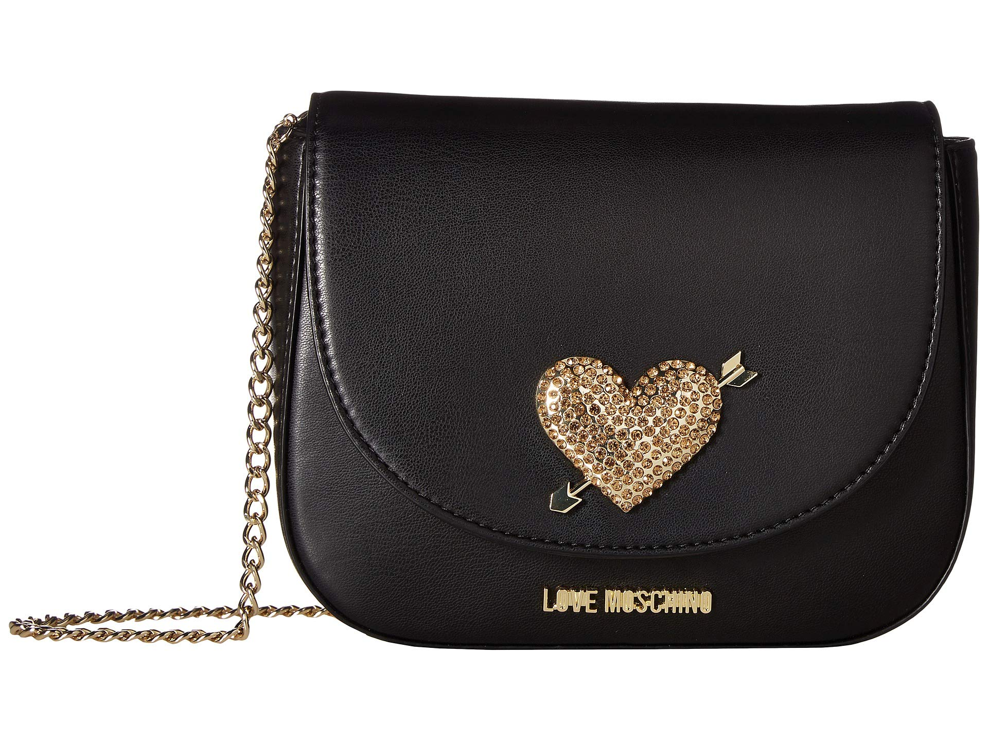 Black Heart Love Moschino With Hardware Bag Evening YfAq1p