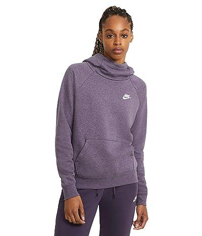 Nike NSW Essential Funnel Pullover Fleece (Dark Raisin/Heather/White) Women