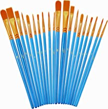 Paint Brush Set, 2Pack 20 Pcs Nylon Hair Brushes for Acrylic Round Pointed Tip Oil Watercolor Painting Artist Professional...