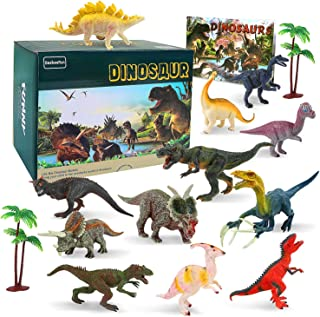 BeebeeRun Dinosaur Toys,15Pcs Large Dinosaur Toy Set,Dinosaur Toys age 3 4 5 6 7,Educational Dinosaur Figures Model Toys f...