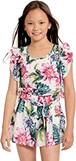 TRULY ME, Big Girls Tween Sweet Floral Romper (Many Options), 7-16