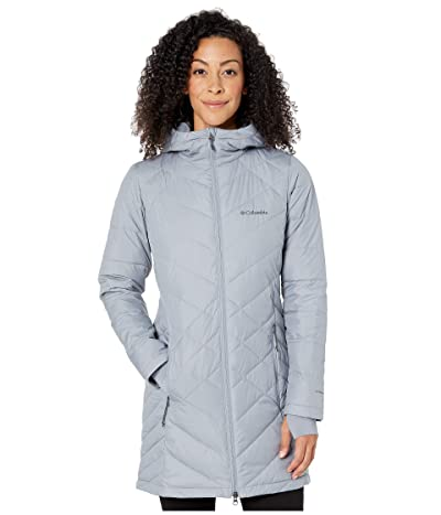 Columbia Heavenly Long Hooded Jacket (Tradewinds Grey) Women