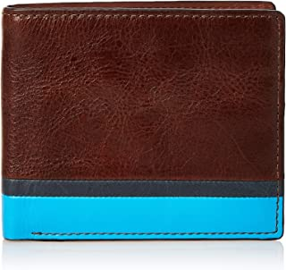 Fossil Men Leon Large Coin Pocket Bifold Wallet Wallet