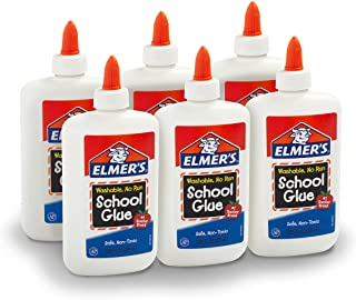 Elmer's Liquid School Glue, Washable, 7.625 Ounces, 6 Count - Great for Making Slime