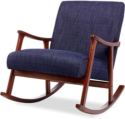 Amazon Com Mid Century Retro Modern Accent Chair Wooden