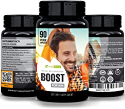 Herbal Revival Boost for Him - Male Enlarger XL Performance Amplification Supplement, Testosterone Booster, Natural Stamina, Endurance, Strength Booster Male Growth Pills, Mood Enhancer 90 Veg Capsule