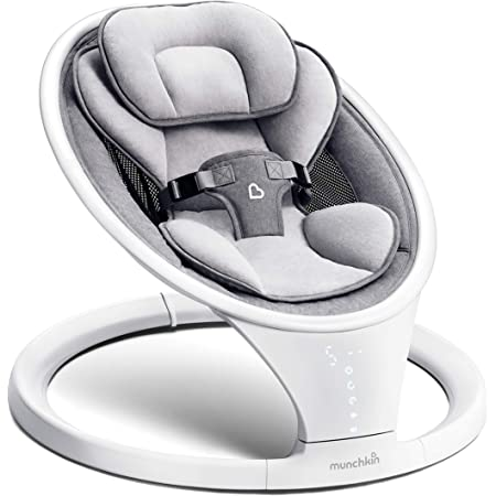 Munchkin Bluetooth Enabled Lightweight Baby Swing with Natural Sway in 5 Speeds and Remote Control