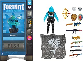 Fortnite Vending Machine, Includes Highly-Detailed and Articulated 4-inch Rippley Figure, Weapons, Back Bling, Building Ma...