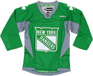 NHL New York Rangers Youth Boys St. Patrick's Day Green Replica Jersey