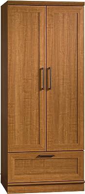 """Sauder HomePlus Wardrobe/Storage Cabinet, L: 28.98"""" x W: 20.95"""" x H: 71.18"""", Sienna Oak finish"""