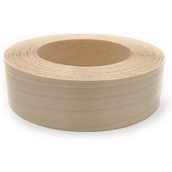 "Edge Supply Birch 1-1/2"" X 25 ft Roll, Wood Veneer Edge Banding Preglued, Iron on with Hot Melt Adhesive, Flexible Wood Tape Sanded to Perfection. Easy Application, Made in USA"