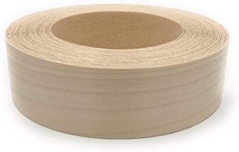 """Birch 1-1/2"""" X 25' Roll Preglued, Wood Veneer Edge Banding, Iron on with Hot Melt Adhesive, Flexible Wood Tape Sanded to P..."""
