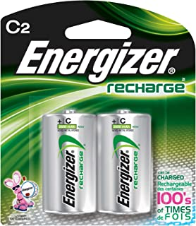 Energizer Energizer e2 C2 NiMH Rechargeable Batteries, C, 2/pack - Pack of 6 Total of 12 Batteries