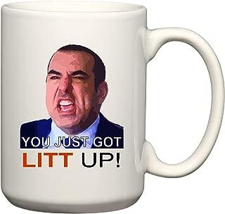 BeeGeeTees You Just Got Litt Up by Louis Litt Funny Suits Inspired Mug 15 oz