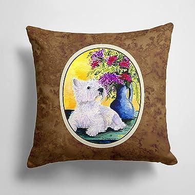 Caroline's Treasures SS8301PW1414 Westie Decorative Canvas Fabric Pillow, 14Hx14W, Multicolor