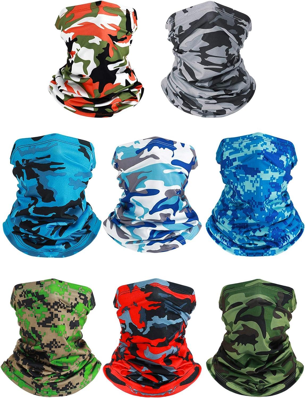 8 Pieces Miami Mall Summer UV Protection OFFicial shop Coolin Gaiter Scarf Balaclava Neck