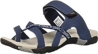 Propet Women's Eleri Slide Sandal, Navy/Light Blue, 5.5 X-Wide