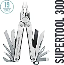 LEATHERMAN - Super Tool 300 Multitool with Premium Replaceable Wire Cutters and Saw, Stainless Steel with Leather Sheath (FFP)