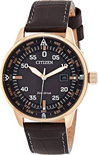 Citizen Women's White Dial Leather Band Watch - EL3040-12D