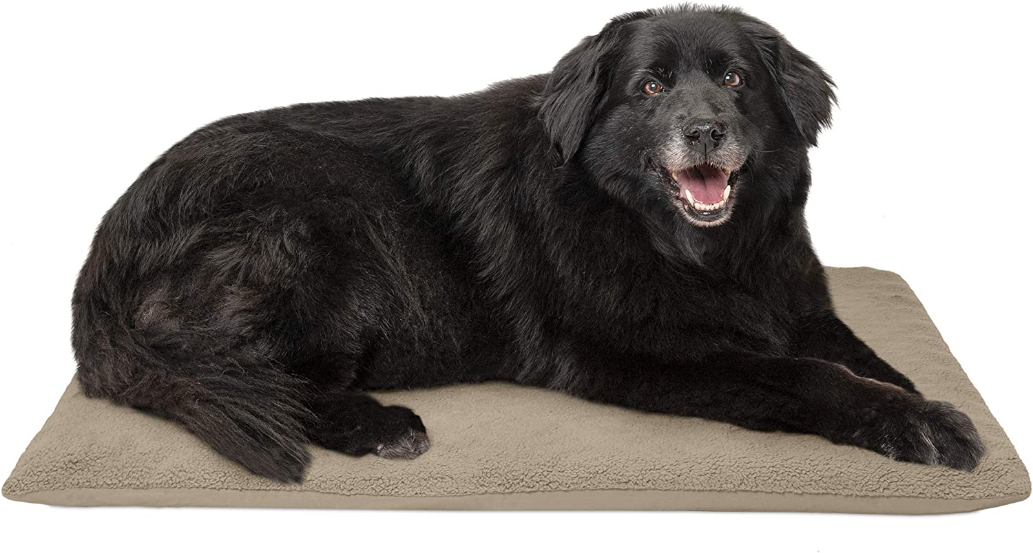 FurHaven Pet Dog Mattress   Terry Orthopedic Mat for Dogs & Cats, Clay, Large