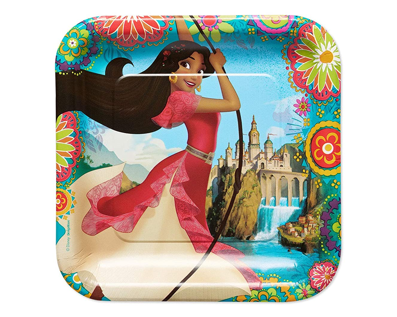 American Greetings Elena of Avalor Party Supplies, Disposable Dinner Plate, 8-Count