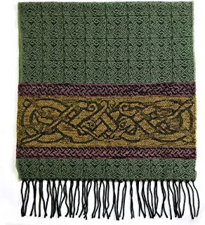 Detailed Woven Celtic Scarf made in Scotland, a collection based on traditional Celtic designs and patterns
