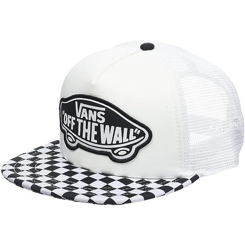 784f652d054 Vans Women s Beach Trucker Hat Baseball Cap White Black
