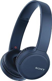 Sony WH-CH510L draadloze hoofdtelefoon (krachtig geluid, ingebouwde spraakassistent, Quick Charge, tot 35 uur accuduur) blauw