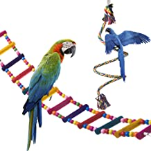 OnePlus Bird Ladder Parrot Toys Cage Accessories for Cockatiel Conure Parakeet Small Macaw